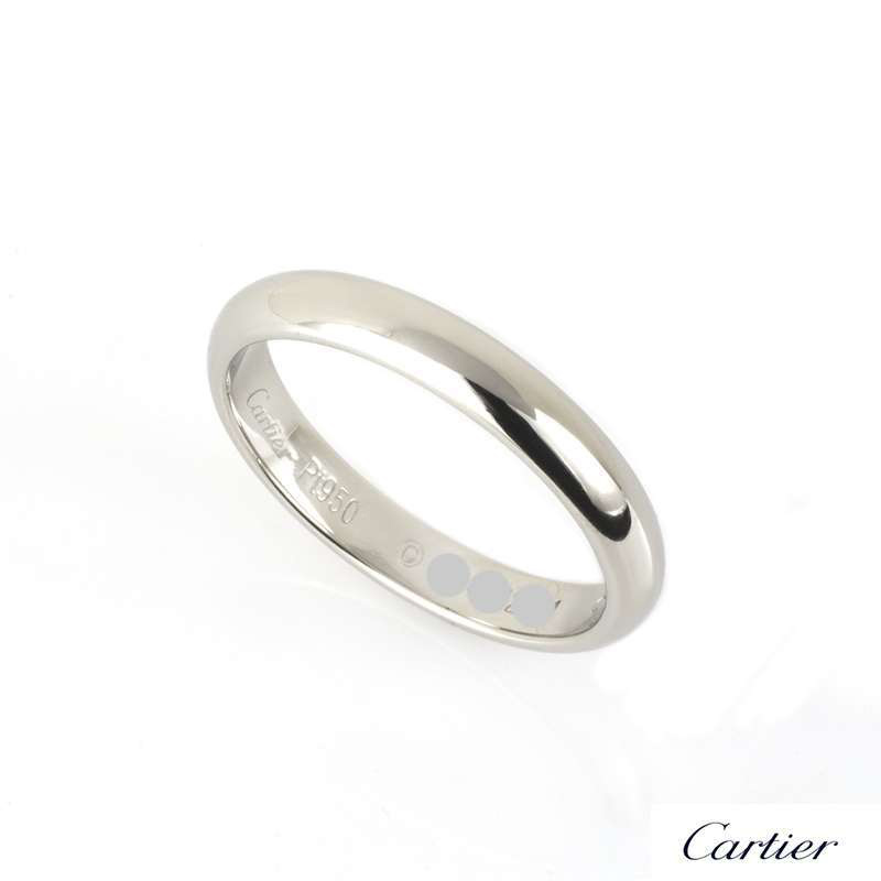 Cartier 4mm Wedding Band in Platinum Size 57 B4036800